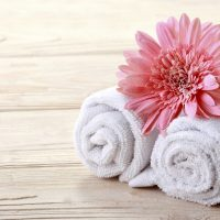 Spa towels at one of the best spas in Bethlehem, PA
