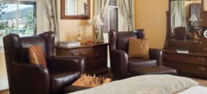 lounge area with chess set