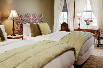 two beds in room