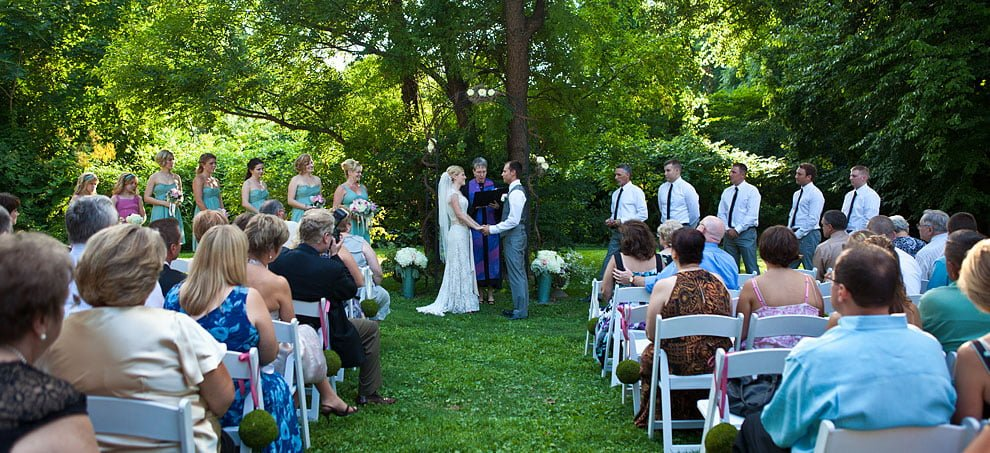 Wyandotte outdoor wedding