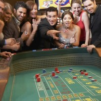 Friends playing Craps at the Sands Casino in Bethlehem, PA
