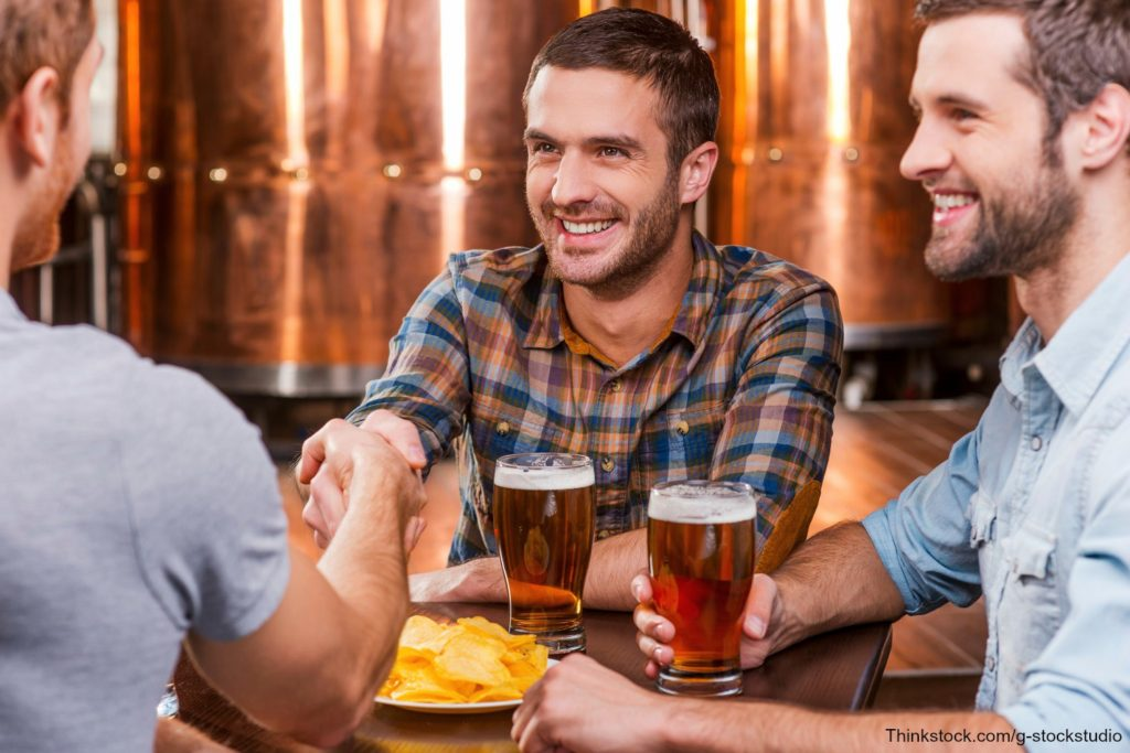 Guys drinking beer on pub tours in Lehigh Valley
