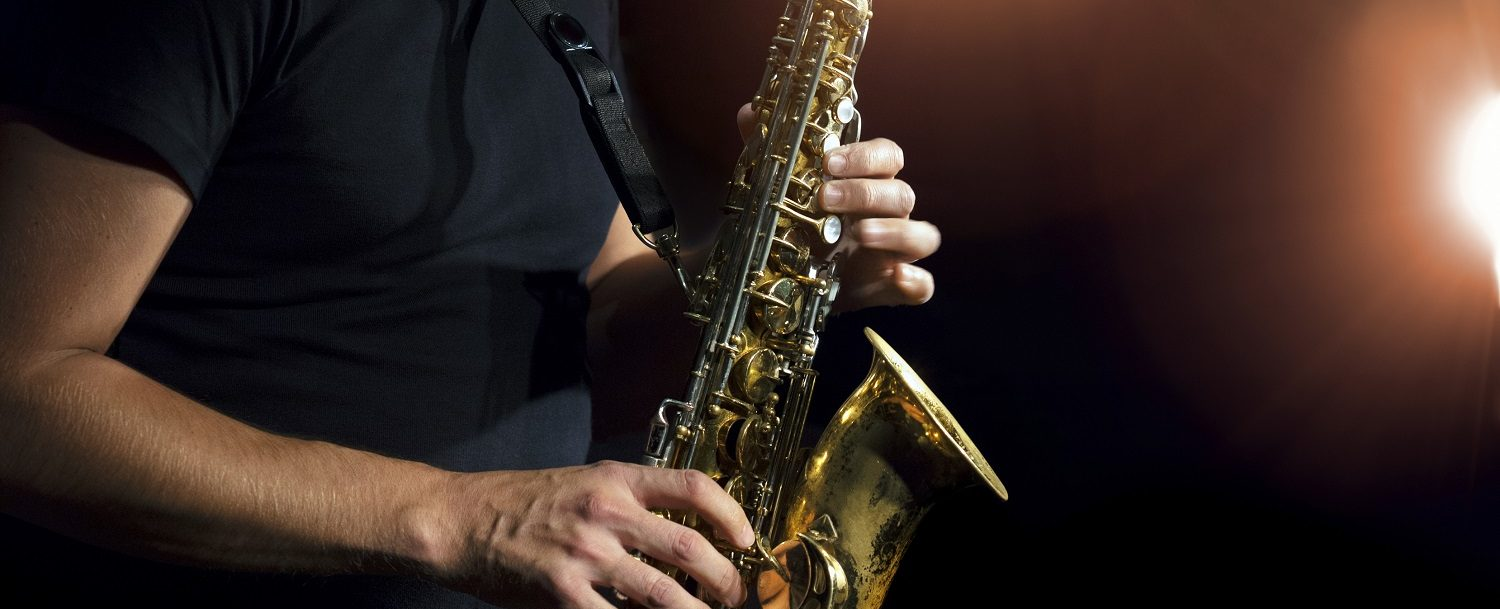 Close up of saxophone at the Allentown Jazz Festival