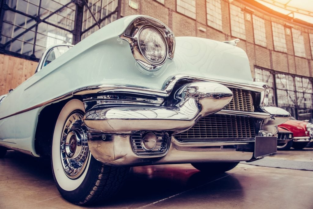 Classic car at the America on Wheels Museum