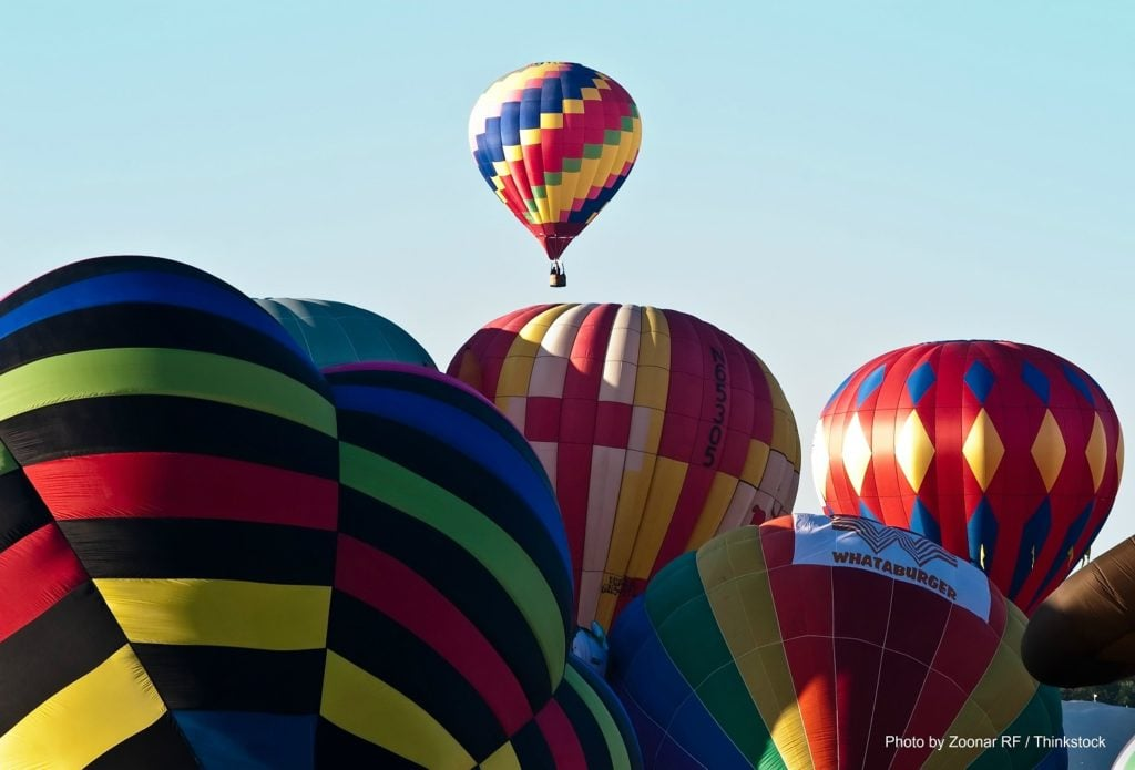 Hot air balloons at the Balloon Festival in PA