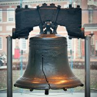 Liberty bell replica at the Liberty Bell Museum